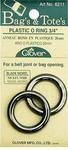 CLOVER 3/4 Plastic O Ring Black Nickle