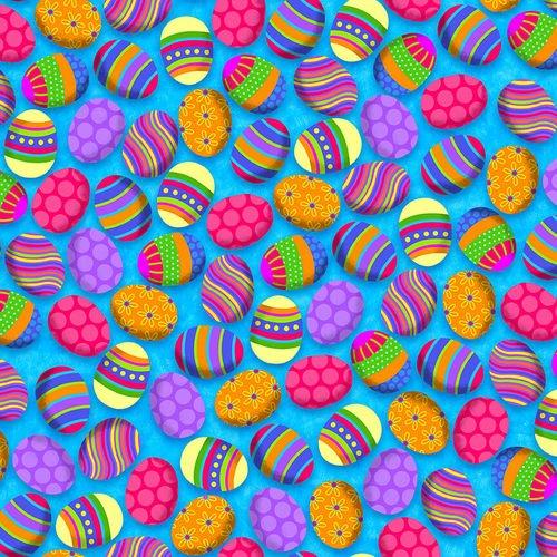 Easter Eggs Blue