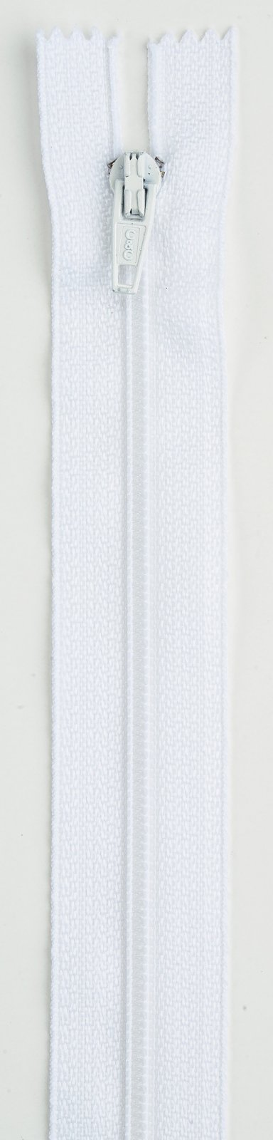 All-Purpose Polyester Coil Zipper 20in White