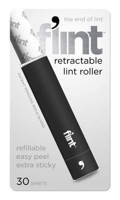 Flint Retractable Lint Roller Black