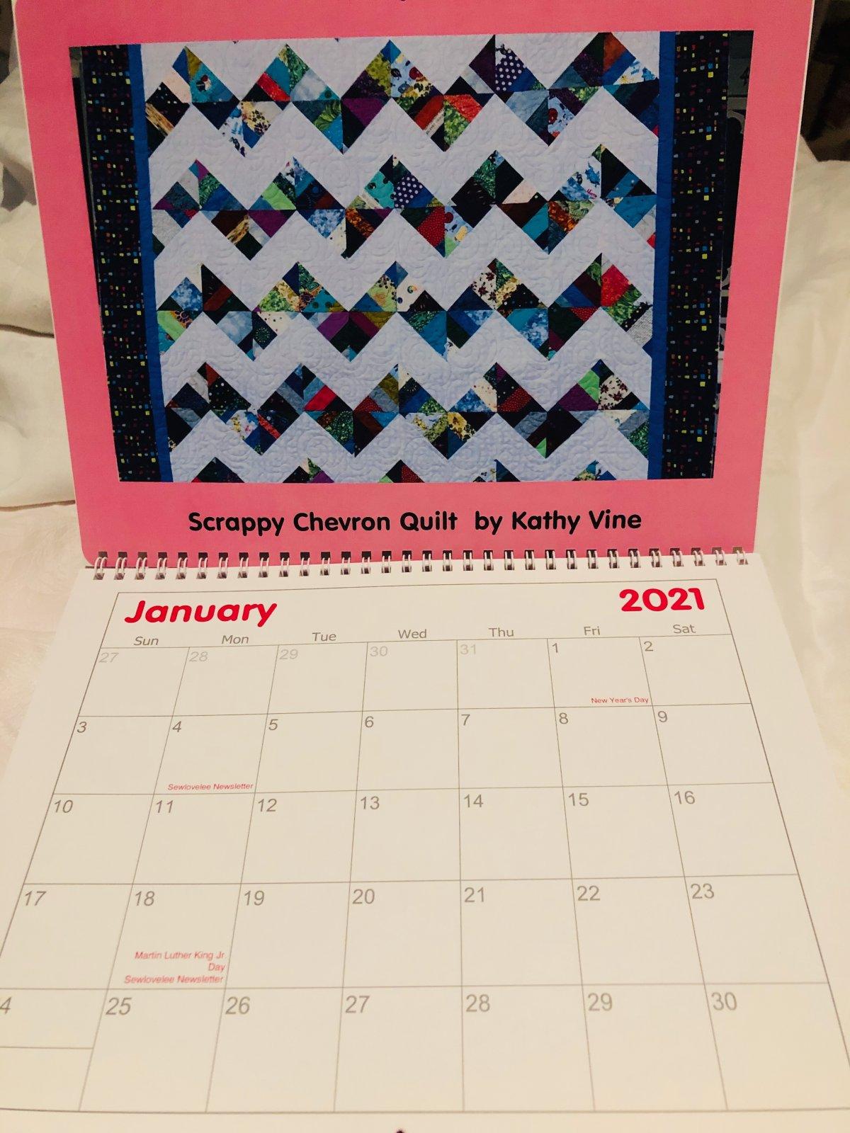 Sewlovelee 2021 Quilt Calendar
