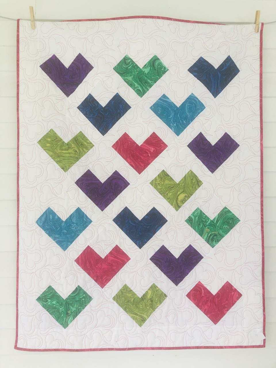 Colorful Quilty Hearts Kit