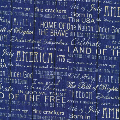 American Pride Words Blue