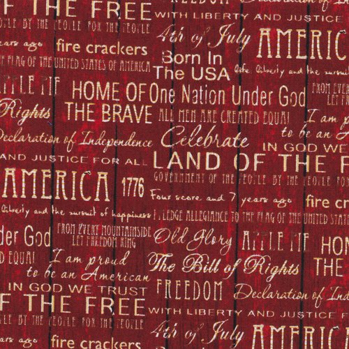 American Pride Words Red