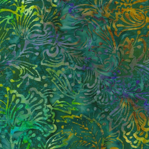 Batik Butterfly Flowers Teal