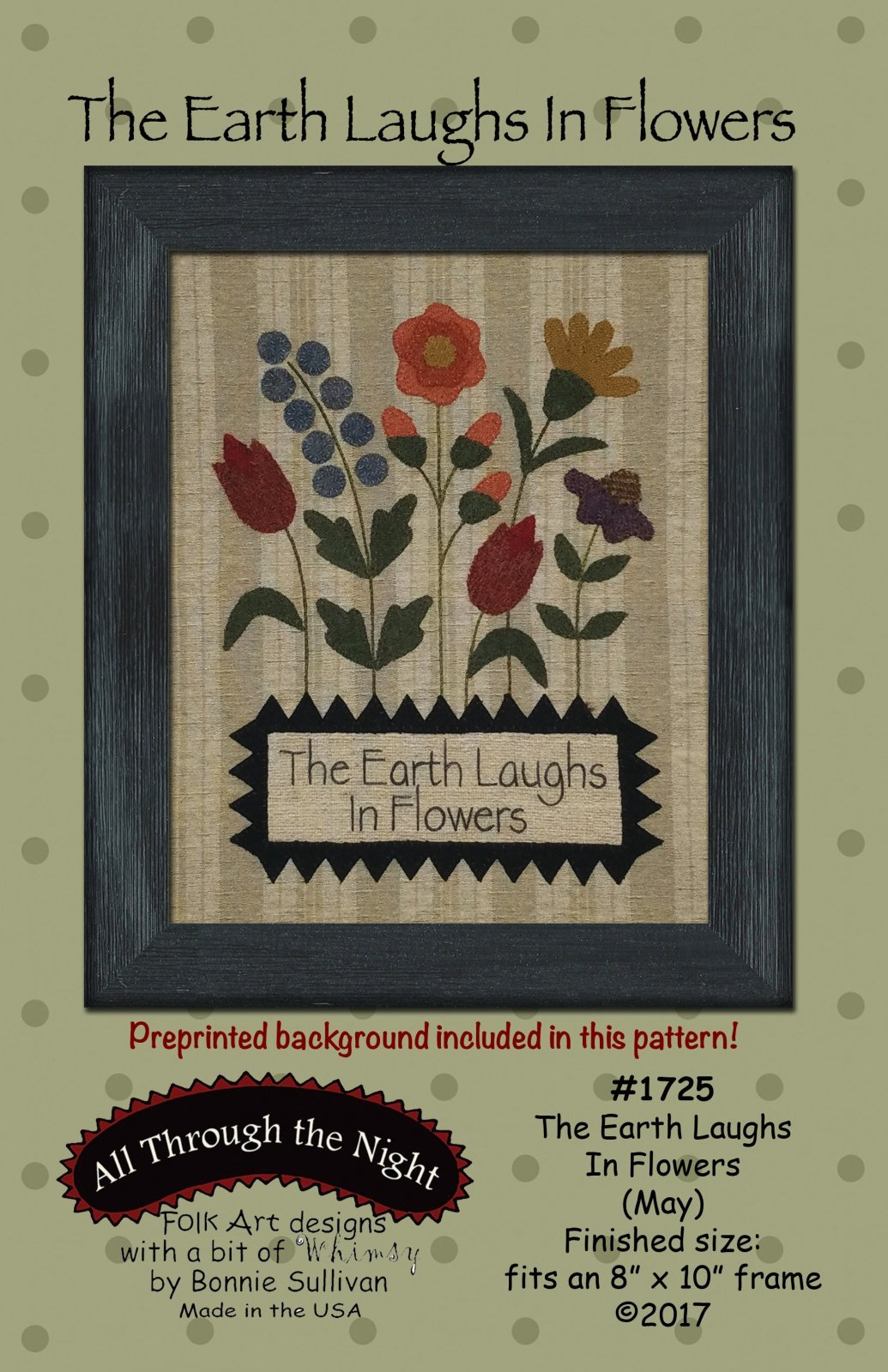 The Earth Laughs In Flowers (May) Pattern and Wool