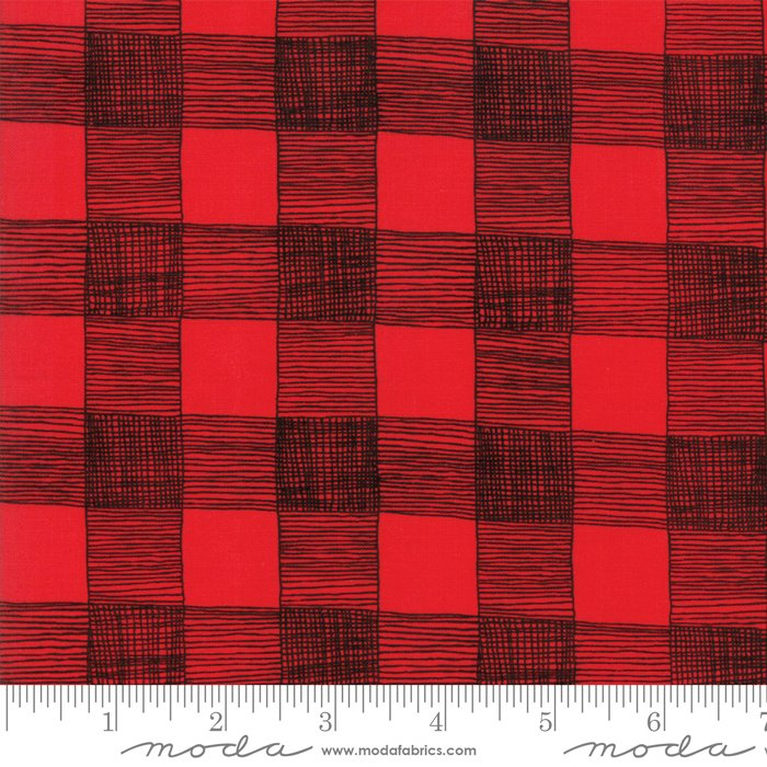 Gingiber Farm Fresh Rooster Red Plaid