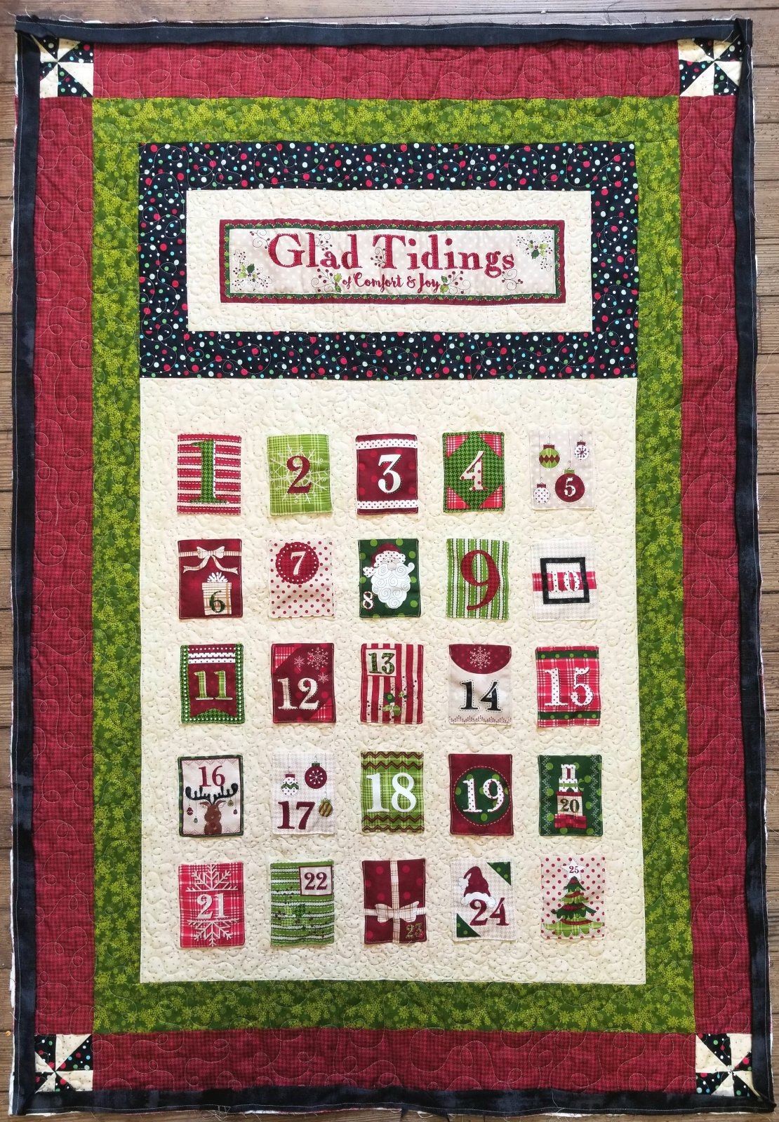 Glad Tidings Advent Fabric Kit