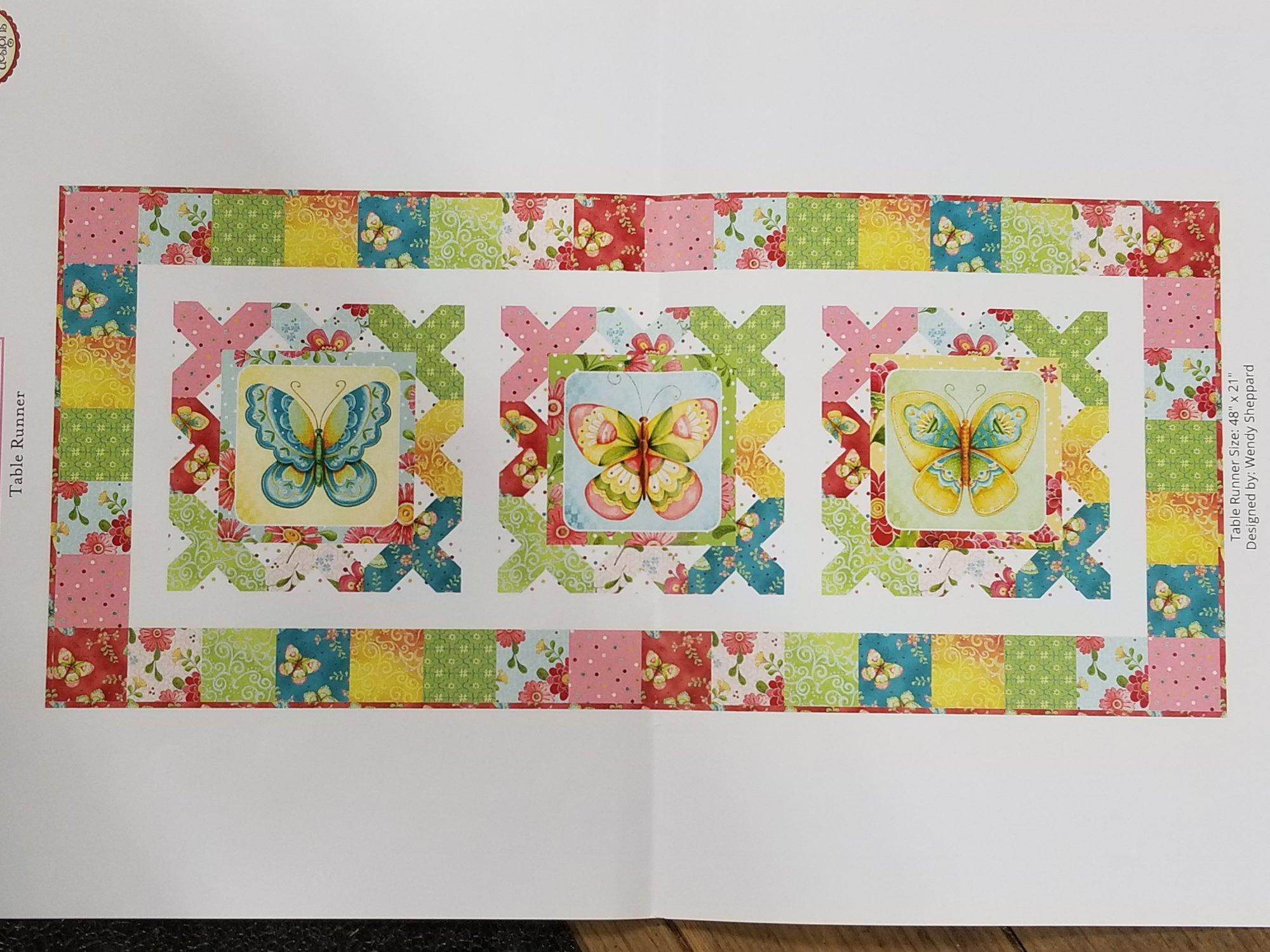 All a Flutter Table Runner Fabric Kit