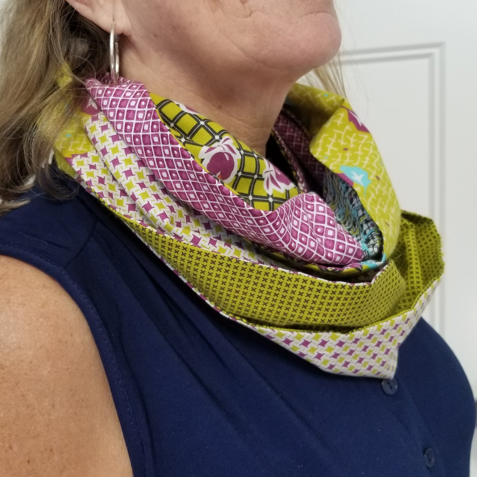 Patchwork Infinity Scarf Fabric Kit