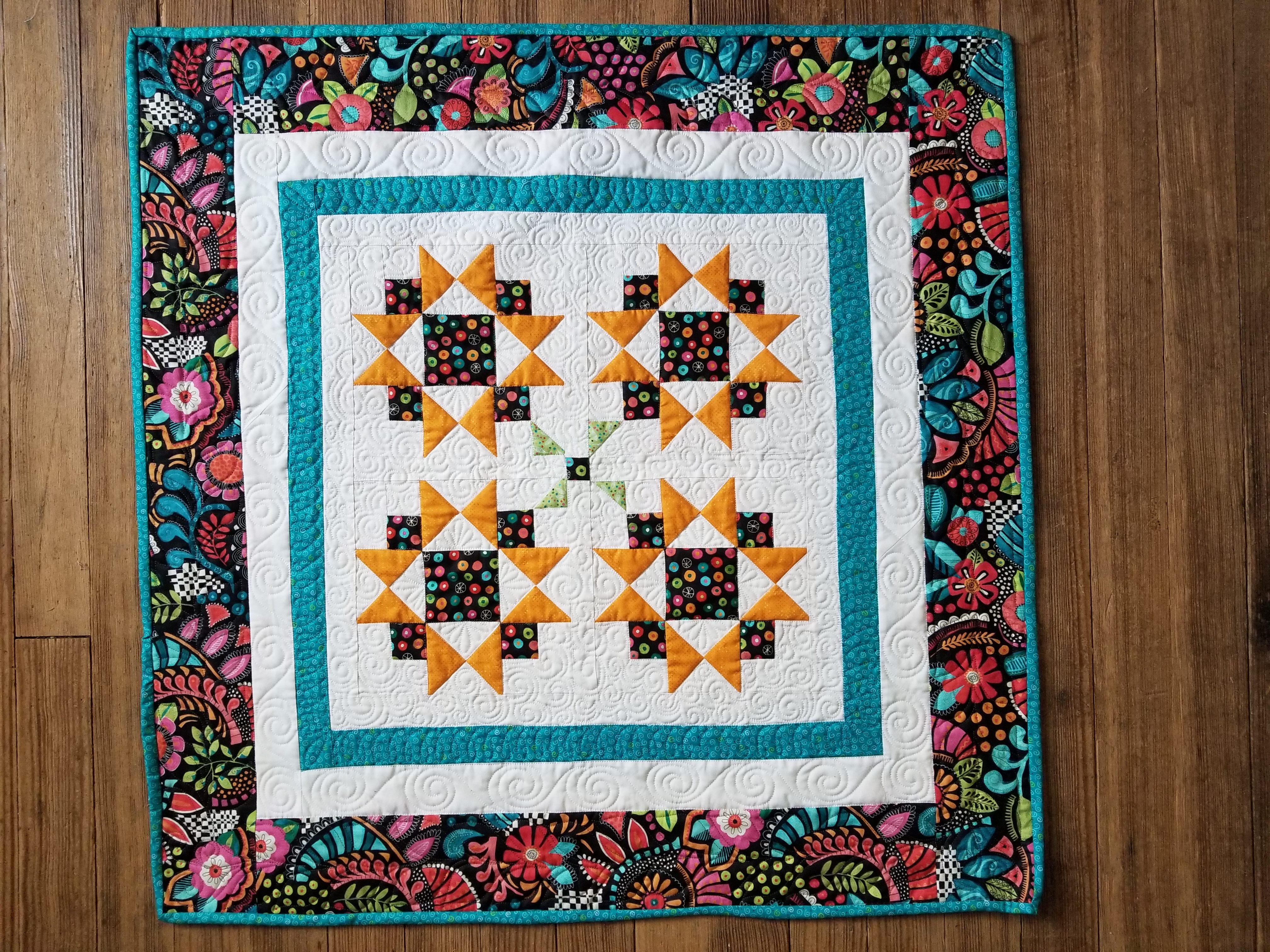 Bright and Cheery Tranquility Fabric Kit