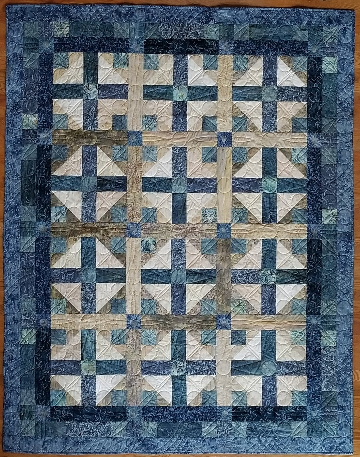 Quilt Sampler Fall 2019 Blue Oasis Fabric Kit