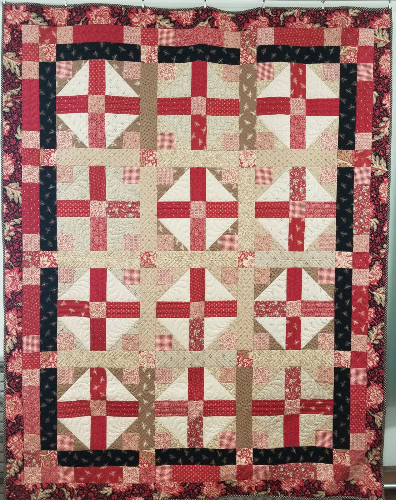 Quilt Sampler Fall 2019 Red Beehive Fabric Kit