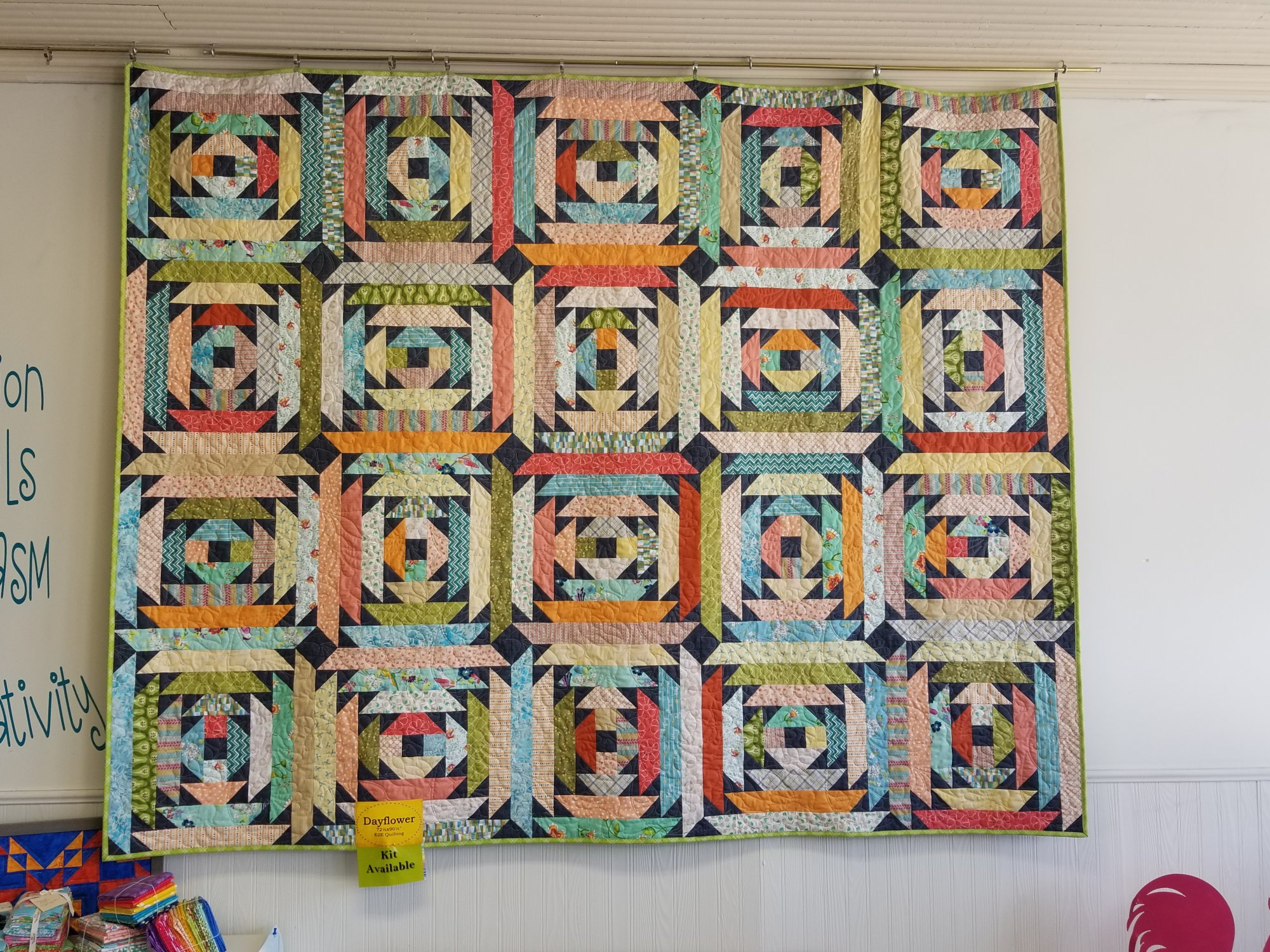 Dayflower Fabric Kit from Sunday Best Quilts