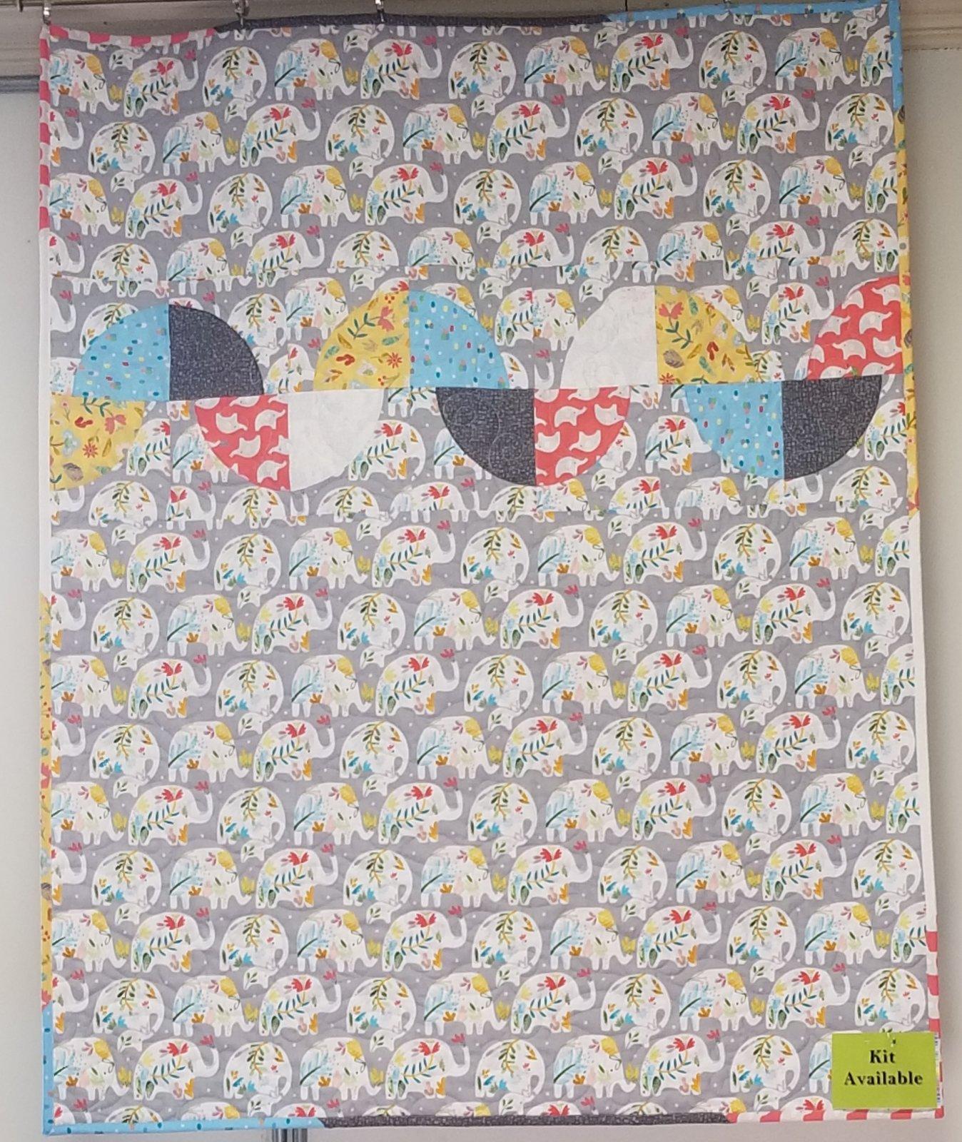 Ellie the Elephant Triplets Fabric Kit