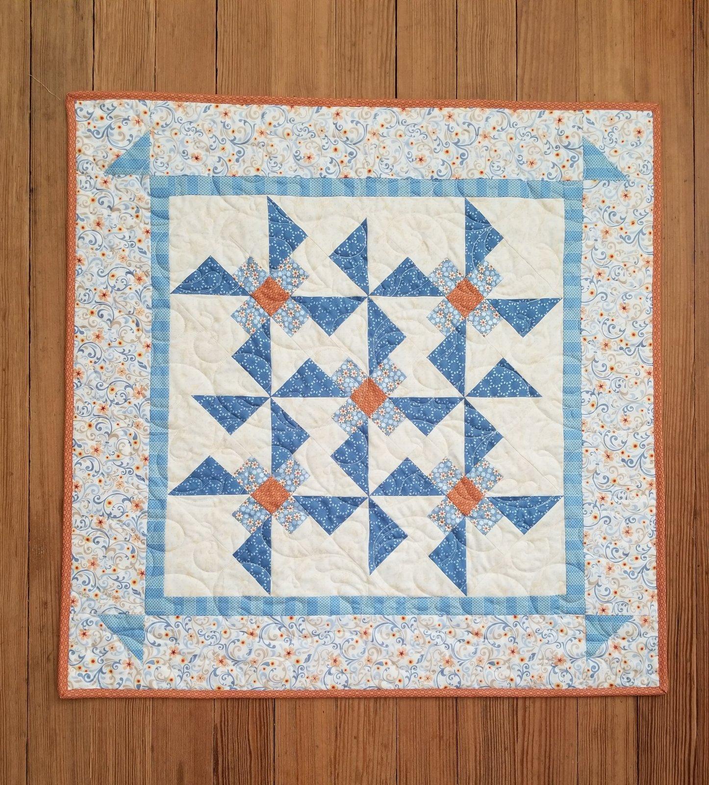 Town Square Pinwheels & Posies Quilt Kit