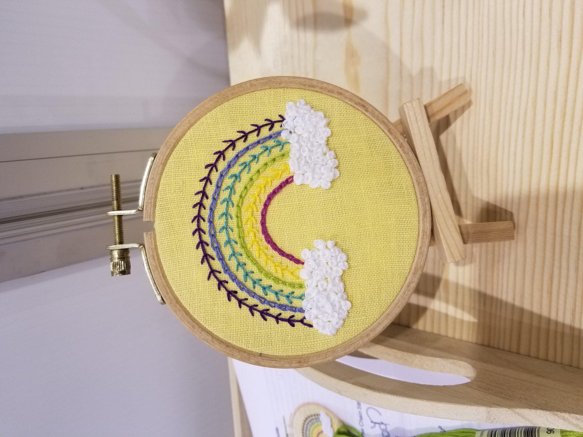 Rosanna Diggs Embroidery: Bright Rainbox