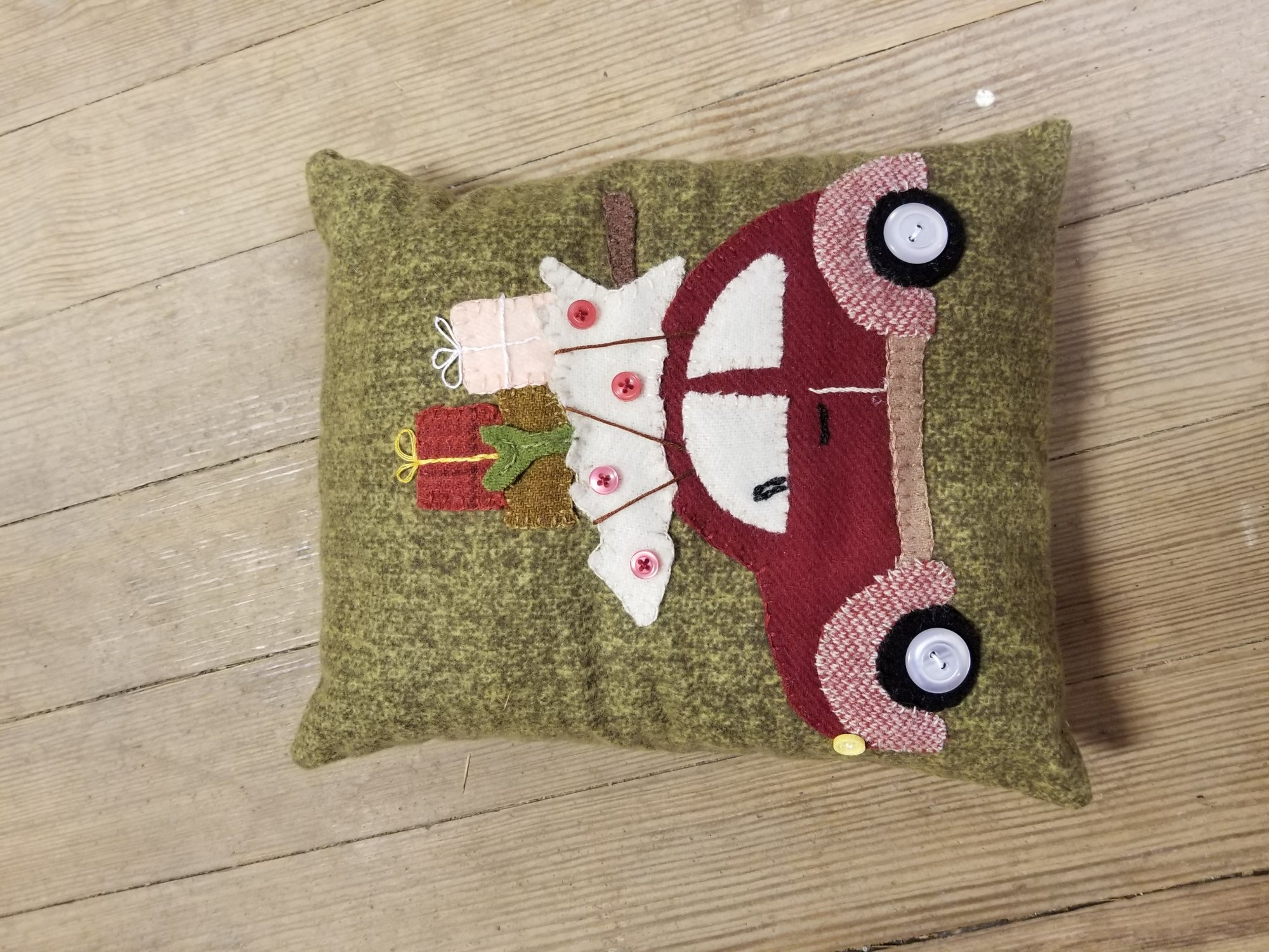 Vintage VW Pillow Wool Kit