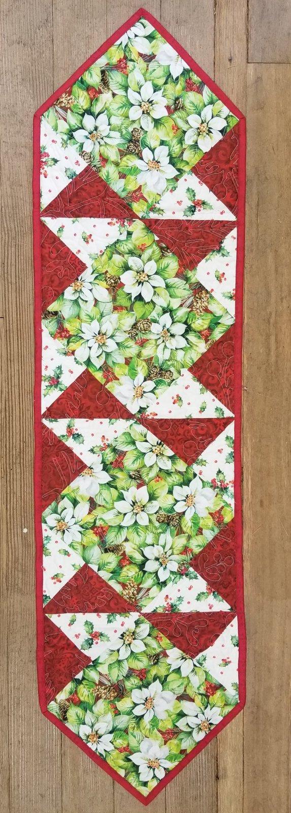 Christmas Poinsettia Sew Square Table Runner Kit