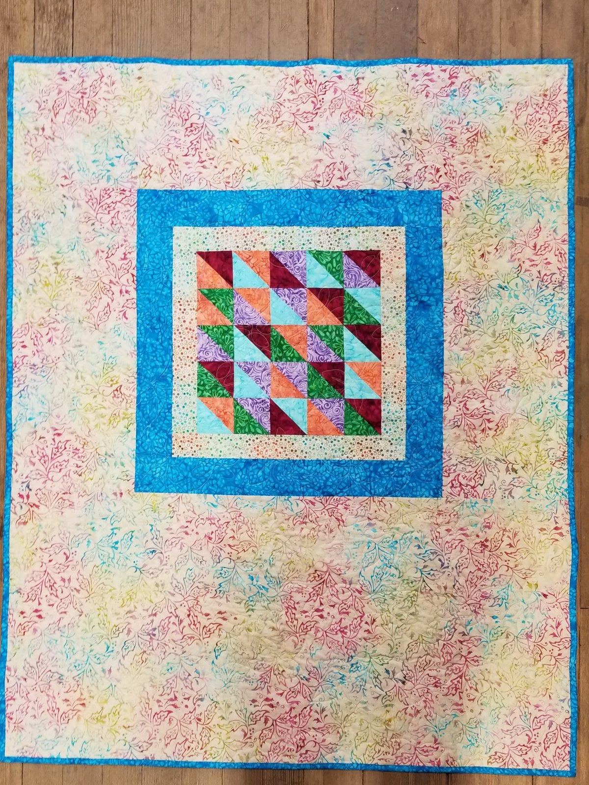 Batik Fill in the Blanks Quilt Kit