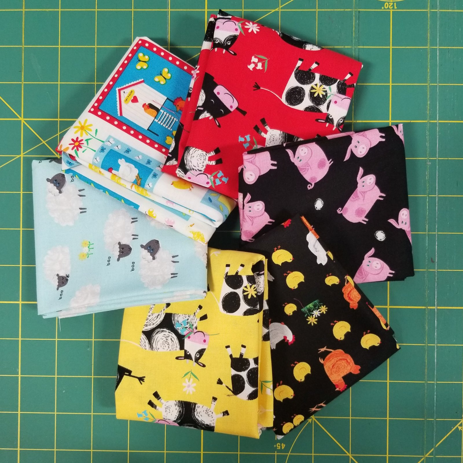 Best Friends Farm Bundle of 6 Fat Quarters