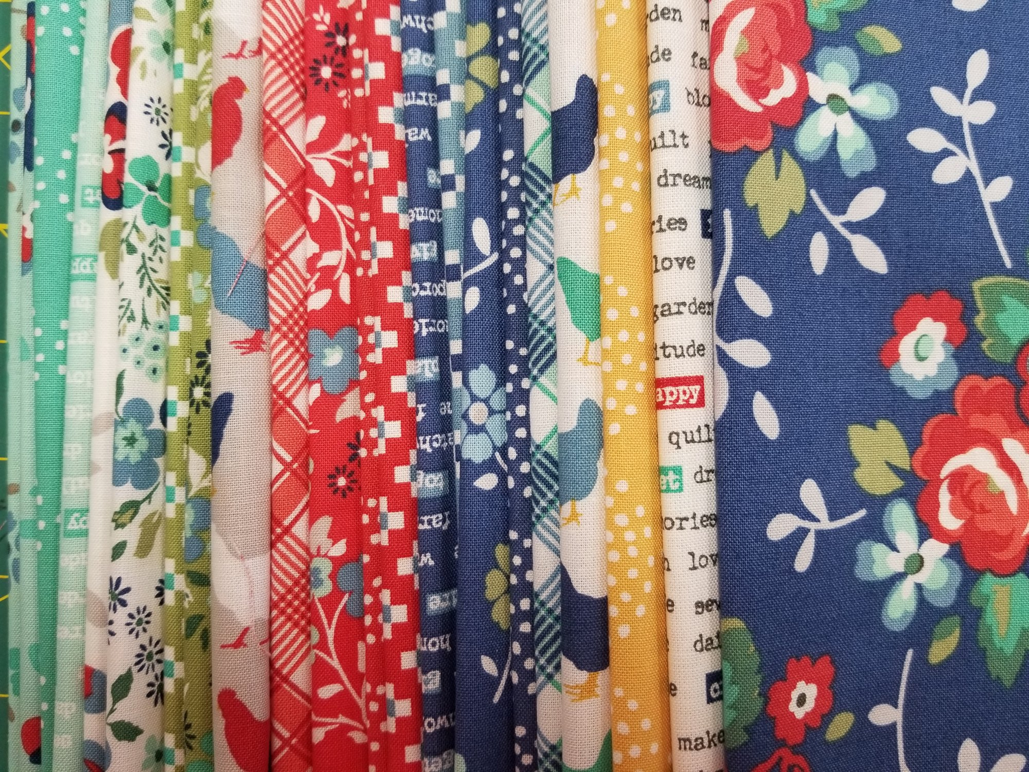 Backyard Blooms Brightly Starter Fabric Kit