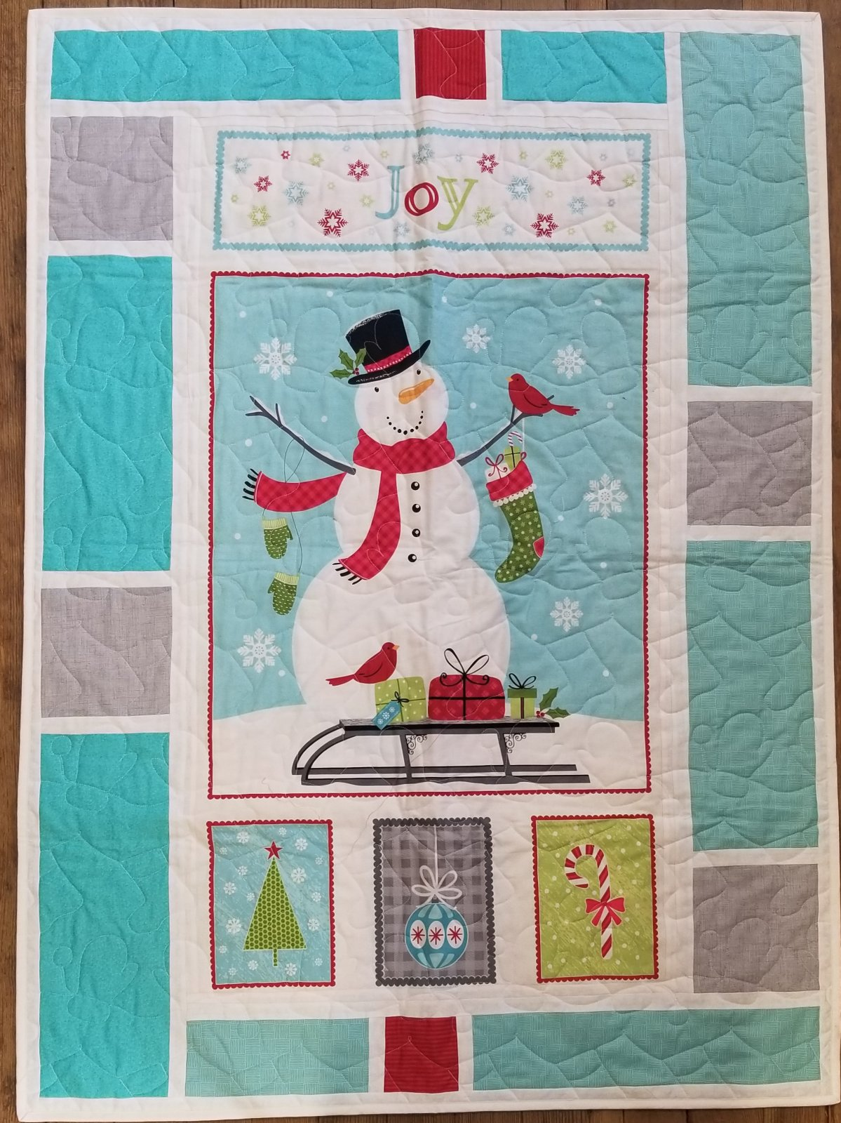 Joy Panel Message Board Quilt Kit