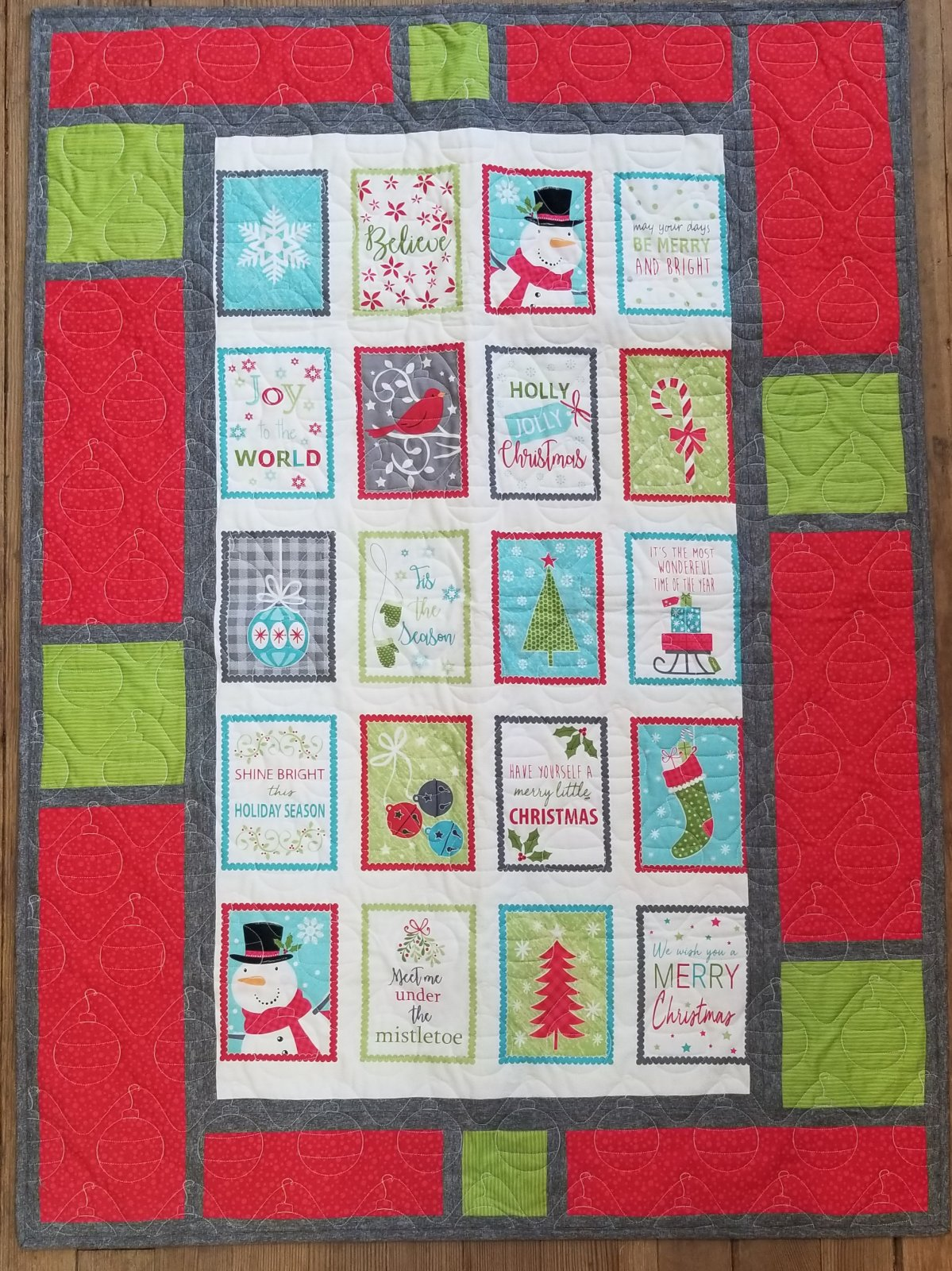 Message Board Joy Multi Panel Quilt Kit