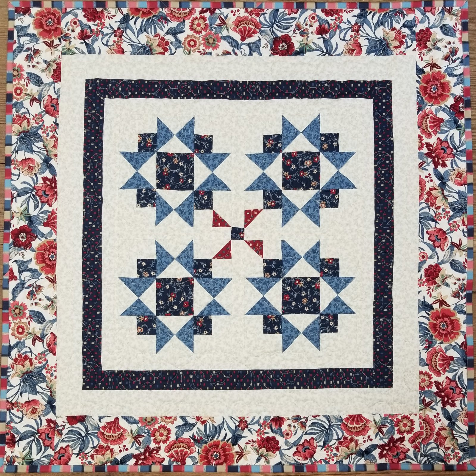 Blue Meadows Tranquility Quilt Kit