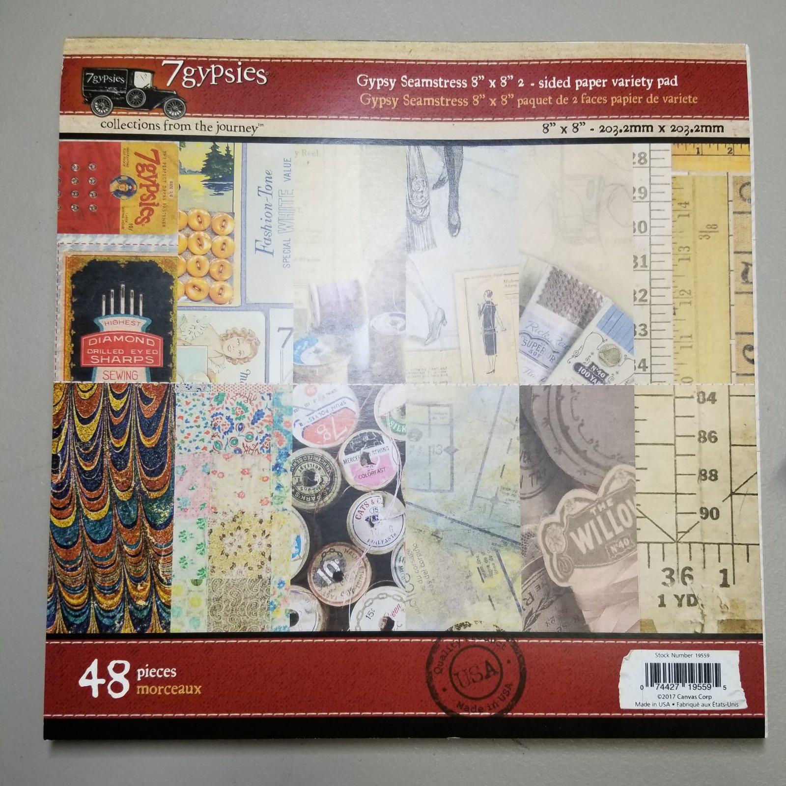 7gypsies Gypsy Seamstress 8 x8 2-sided paper variety pad