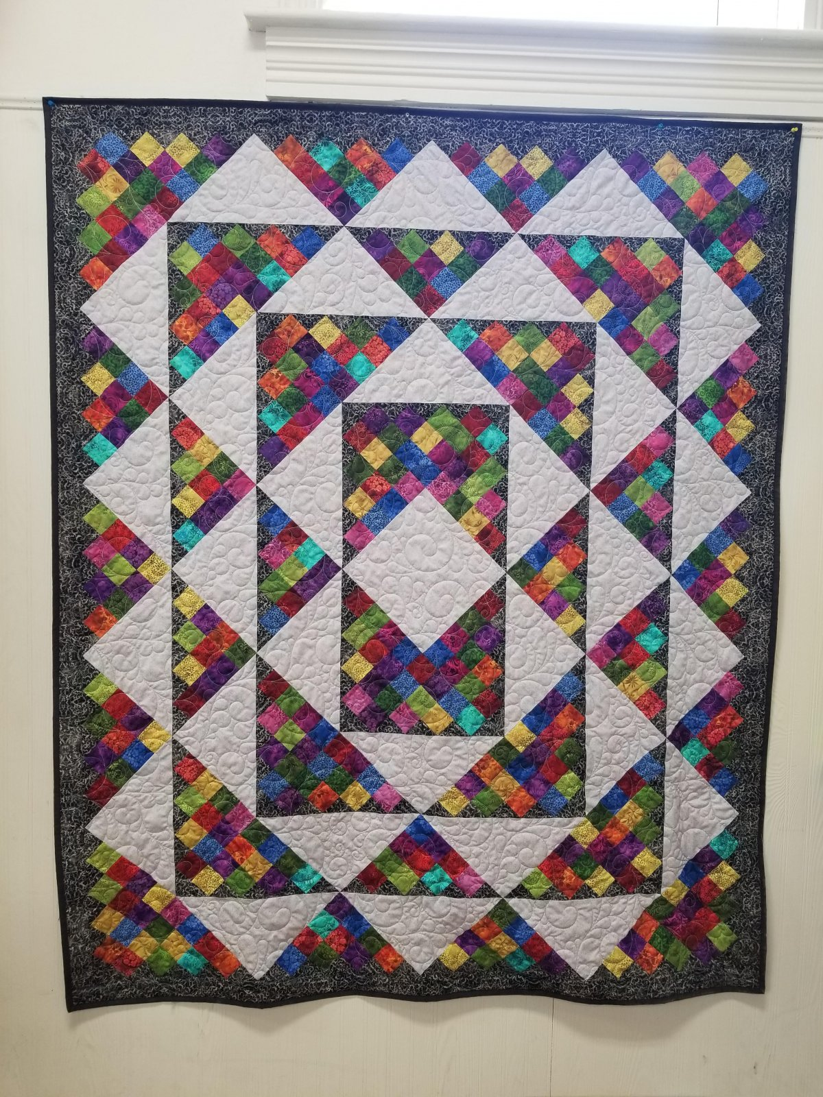 Rainbow of Jewels Scrap Box Squares Quilt Kit
