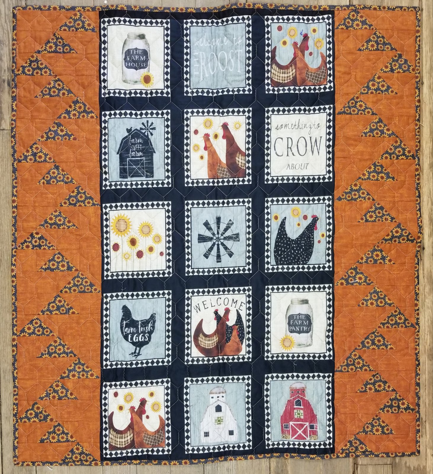 Quilt Barn Multi Roost Goose Chase Fabric Kit