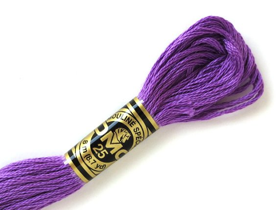 DMC Six Strand Floss A Dark Lavender 208