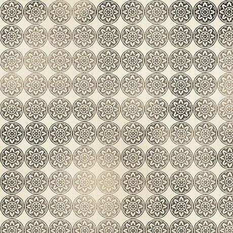 Diamond Geometric Cream/Black