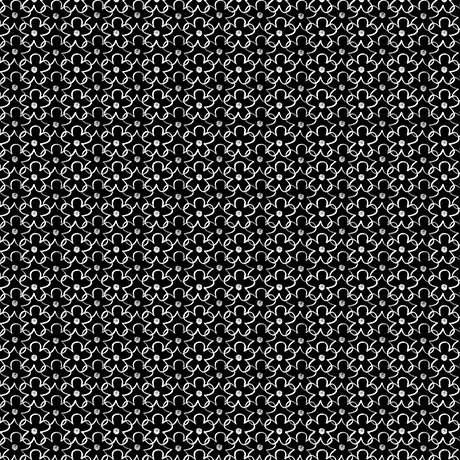 En Vogue Linear Flower Black and White