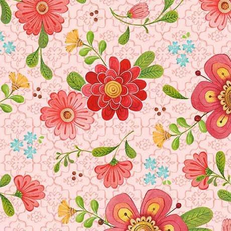 All a Flutter Pink Floral