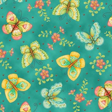 All a Flutter Aqua Butterfly