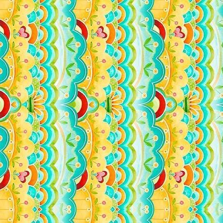 All a Flutter Aqua Stripe