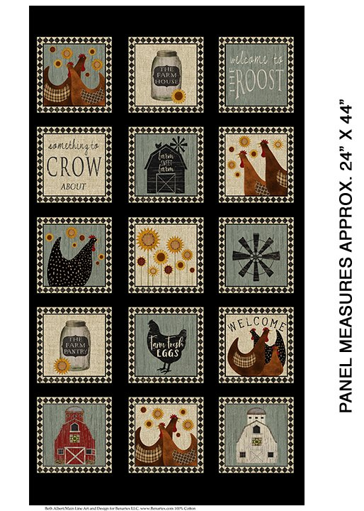Quilt Barn Multi Roost Panel