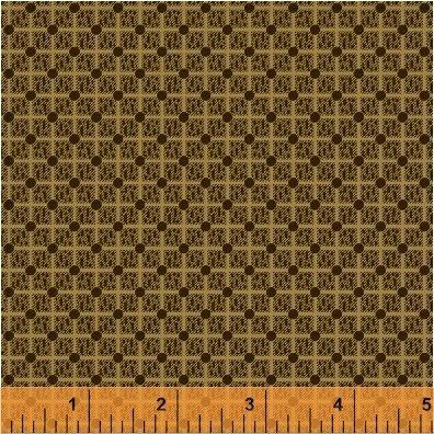 Kindred Spirits brown grid dot