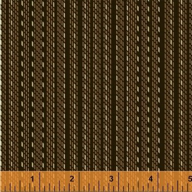 Kindred Spirits brown dotted stripe