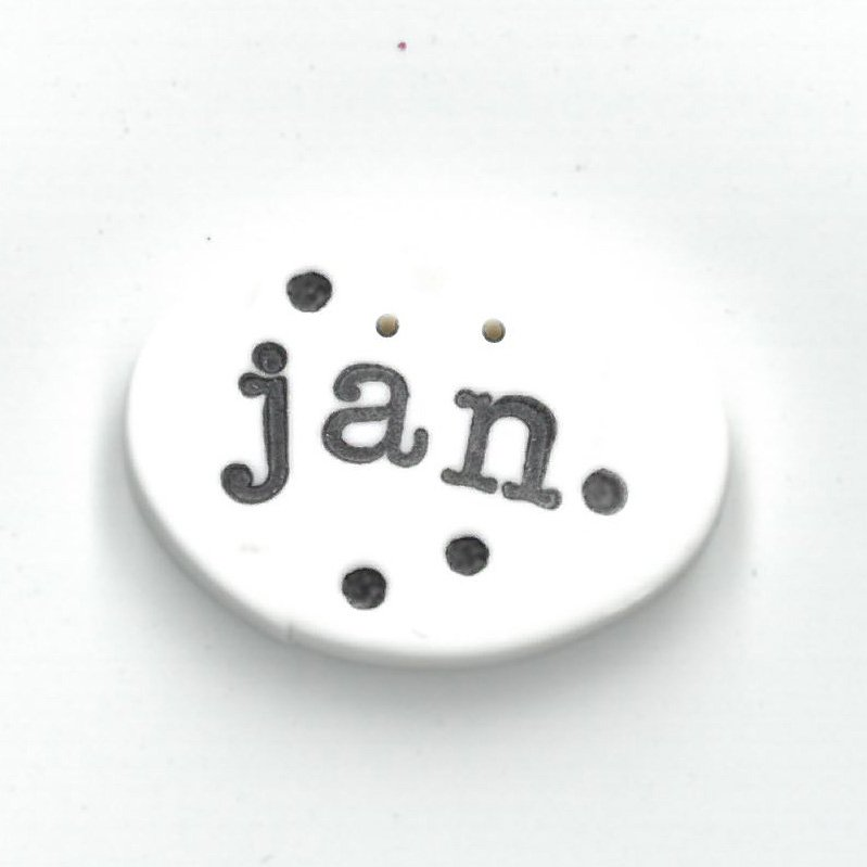 Monthly Button Tag- January