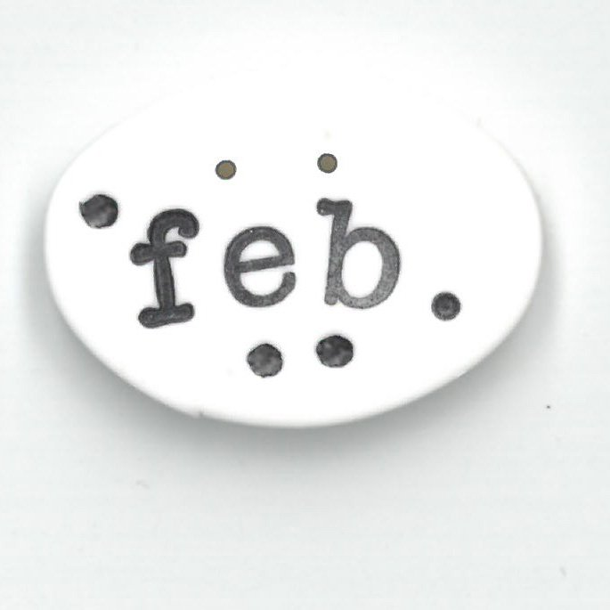 Monthly Button Tag- February
