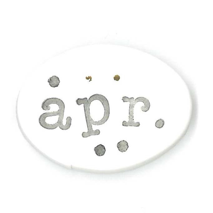 Monthly Button Tag- April
