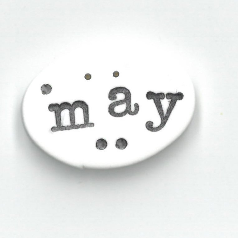 Monthly Button Tag- May