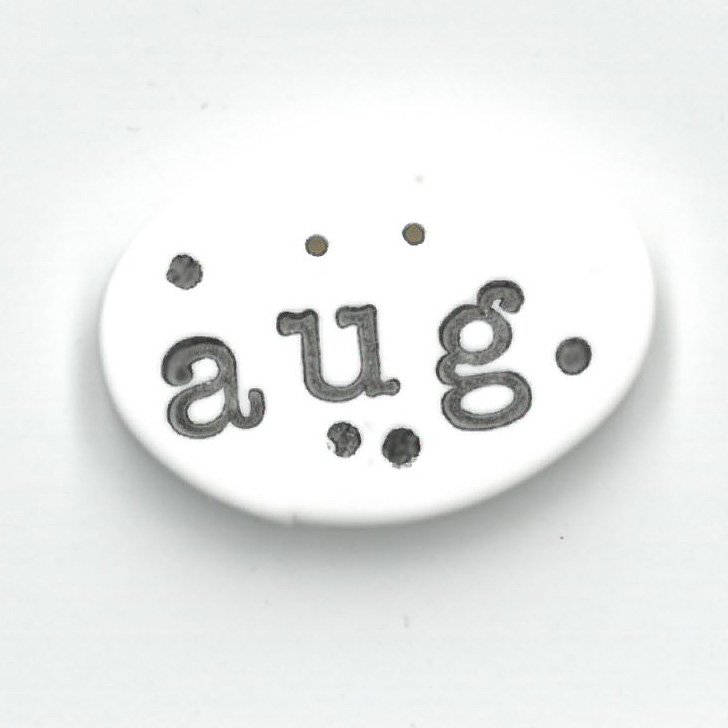 Monthly Button Tag- August