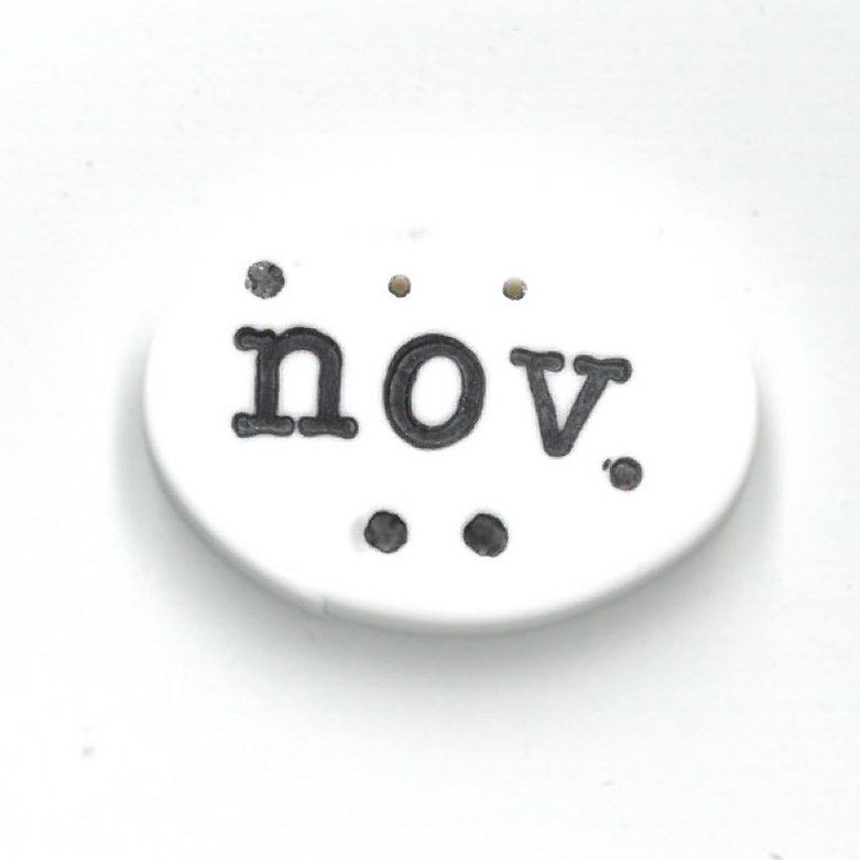 Monthly Button Tag- November