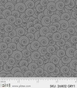 P&B Textiles Gray Matters Swirls Gray