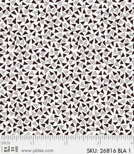 P&B Textiles Noir Black triangles on white