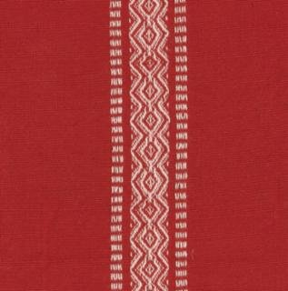 Red and white stripe toweling
